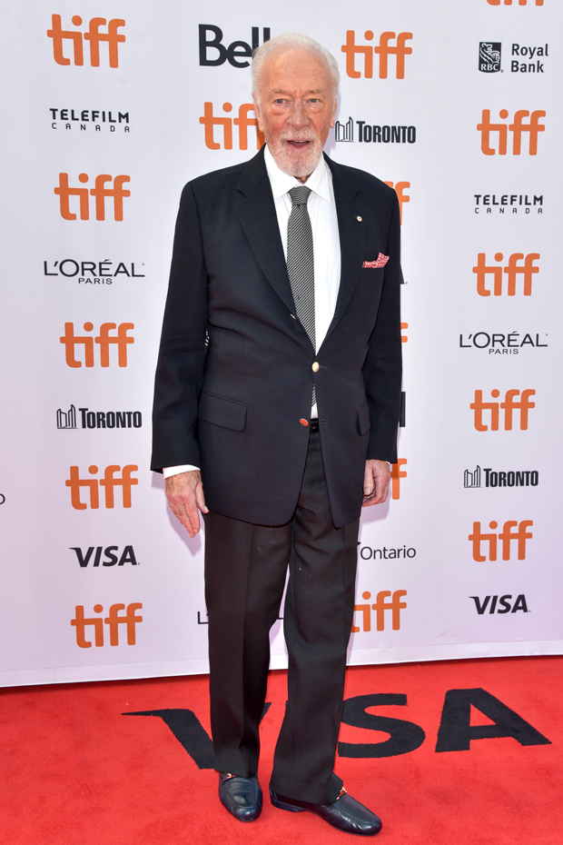 "christopher Plummer attends ""Knives Out"" Premiere during the 2019 Toronto International Film Festival (TIFF) at VISA Screening Room (Princes of Wales Theatre) in Toronto, Ontario, Canada, on September 7, 2019"