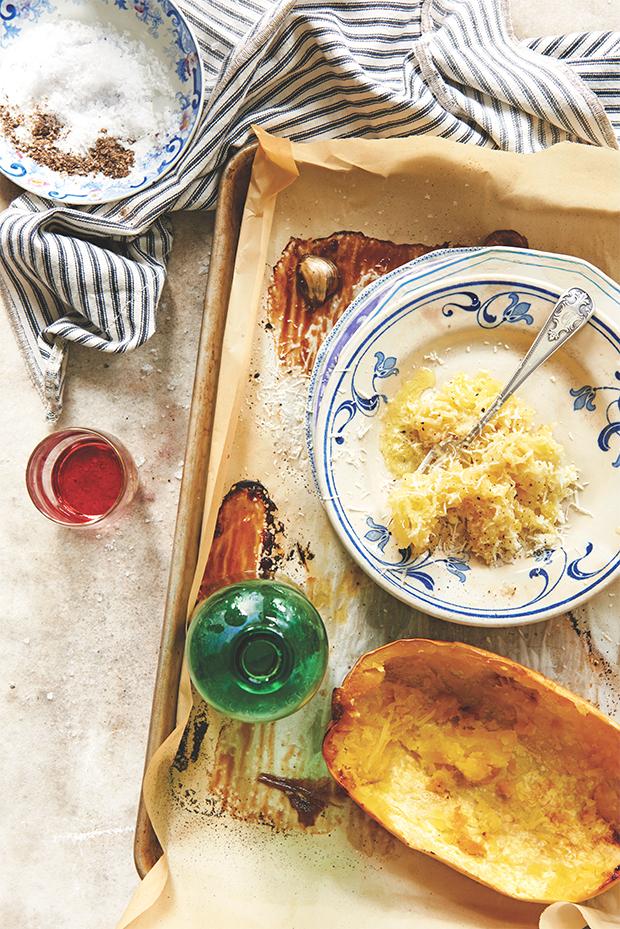 Spaghetti Squash Cacio e Pepe