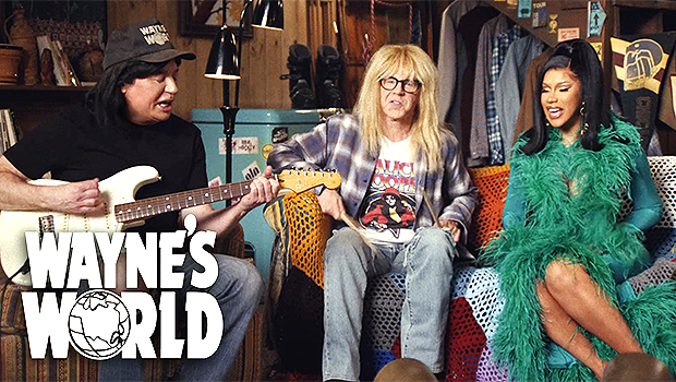 'Wayne's World': Mike Myers & Dana Carvey Team Up With Cardi B For Excellent Uber Eats Super Bowl Ad