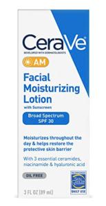 CeraVe moisturizer with SPF