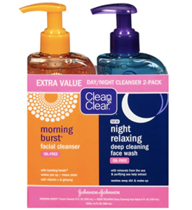 Clean and Clear 2-pack cleanser