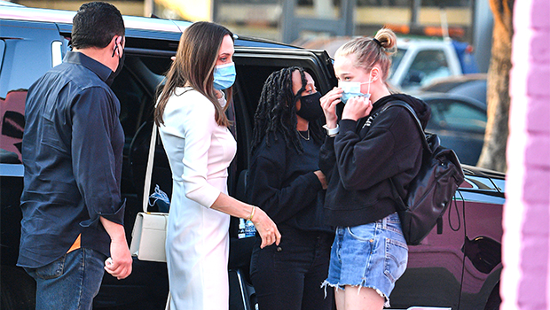 Angelina Jolie Shows Daughter Shiloh's, 14, New Long Hair Makeover In Pics From Election Night - HollywoodLife