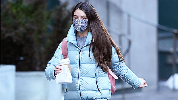 Suri Cruise, 14, Looks So Grown Up In A Baby Blue Puffer During Solo Coffee Run — See Pic
