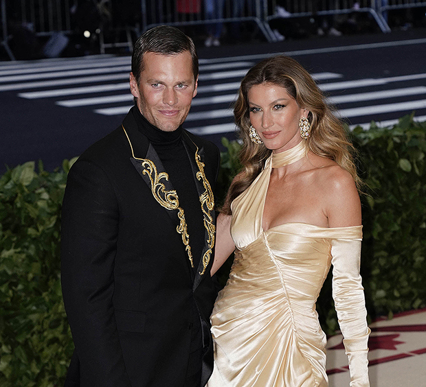 "JANUARY 7th 2021: Tom Brady and Gisele Bundchen have sold two multimillion-dollar properties in The Northeast. They sold their Brookline, Massachusetts estate for a reported $32.5 million and they also finalized a sale on their luxury apartment in the Tribeca neighborhood of Manhattan in New York City for $37 million. - File Photo by: zz/XPX/STAR MAX/IPx 2018 5/7/18 Tom Brady and Gisele Bundchen at the 2018 Costume Institute Benefit Gala celebrating the opening of ""Heavenly Bodies: Fashion and the Catholic Imagination"". (The Metropolitan Museum of Art, NYC)"