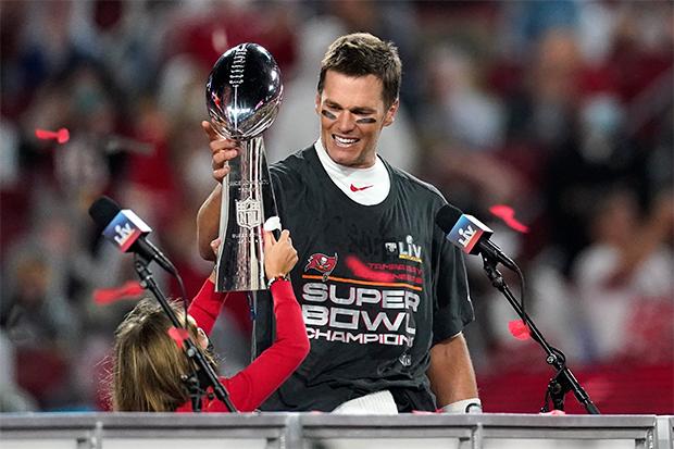 Tom Brady & his daughter at Super Bowl 2021