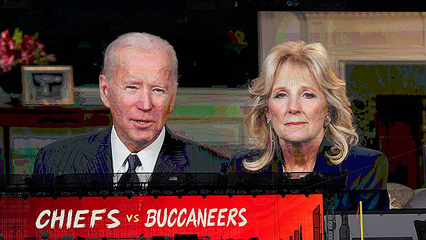 Joe & Jill Biden Honor First Responders At Super Bowl & Lead Moment Of Silence For Victims Of COVID-19