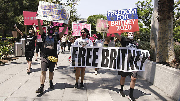 Free Britney Spears protestors