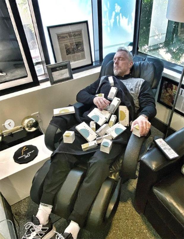 Gunnar Peterson sitting in a chair