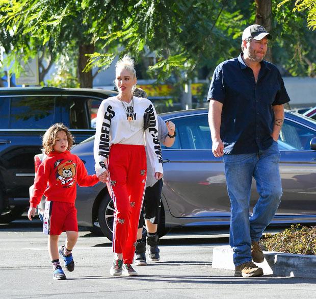Gwen Stefani, Blake Shelton, Apollo Rossdale