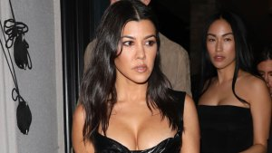 Kourtney Kardashian Stuns In Bra Top & Sheer Covering For Wild Night Out With Kim — Pics
