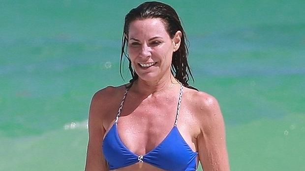 Luann De Lesseps, 55, Plays In The Ocean Wearing A Bright Blue Bikini On Tulum Trip: See Pic.jpg