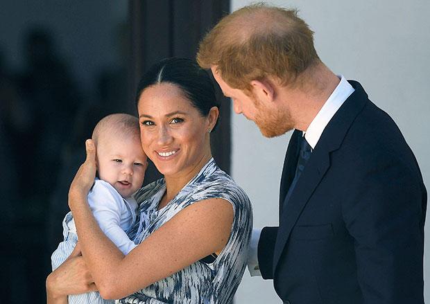 Meghan Markle & Prince Harry with their son