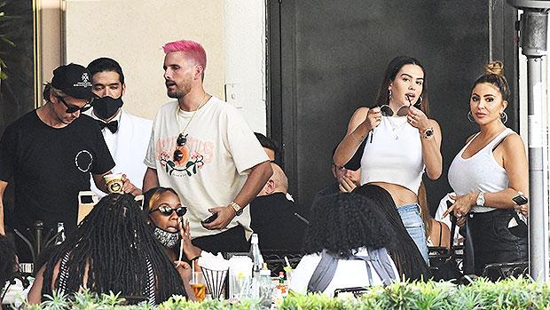 Scott Disick Has Lunch With Kim Kardashian's Ex-BFF Larsa Pippen & Amelia Hamlin In Miami