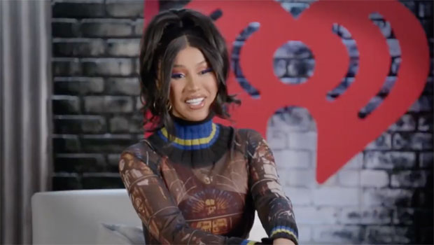 Cardi B Stuns In Mesh Jean Paul Gaultier Turtleneck At iHeartRadio's 'SeeHer Hear Her' Event