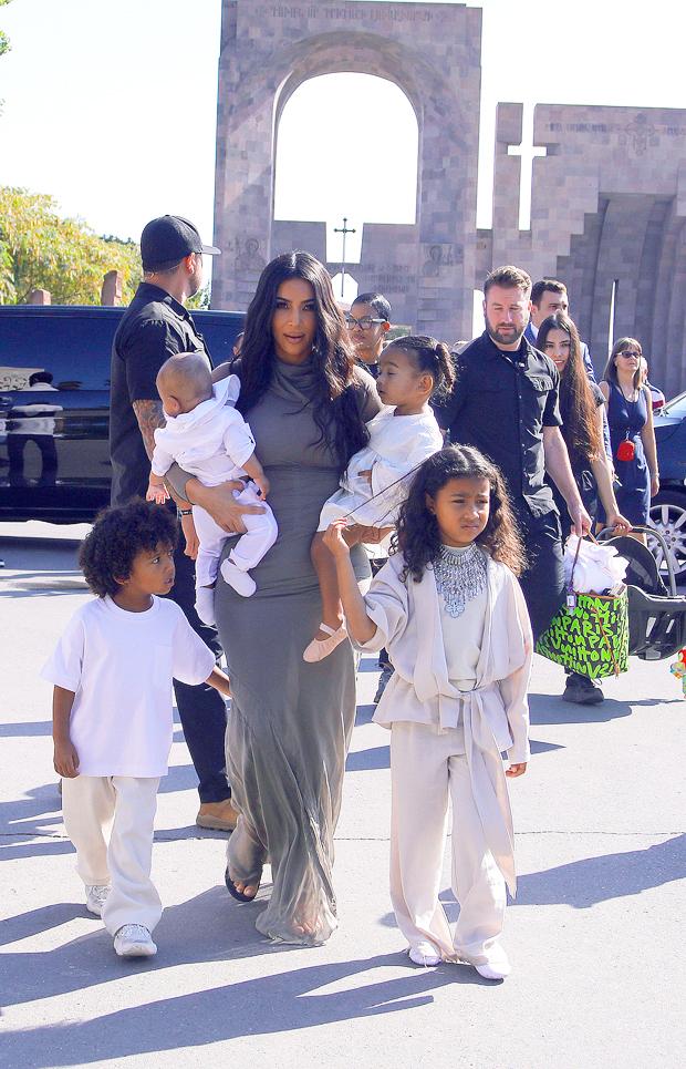 Kim Kardashian, North West, Saint West, Chicago West, Psalm West