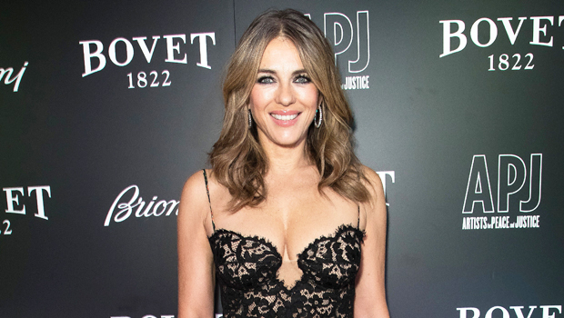 Elizabeth Hurley, 55, Sheds Her Clothes & Denies 'Ridiculous' Rumor She's Filming A Reality Show