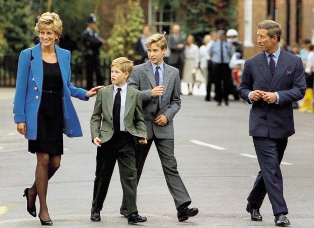 Princess Diana, Prince Harry, Prince William, Prince Charles