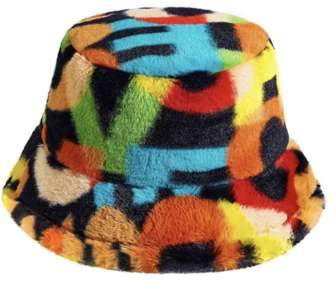 furry bucket hat
