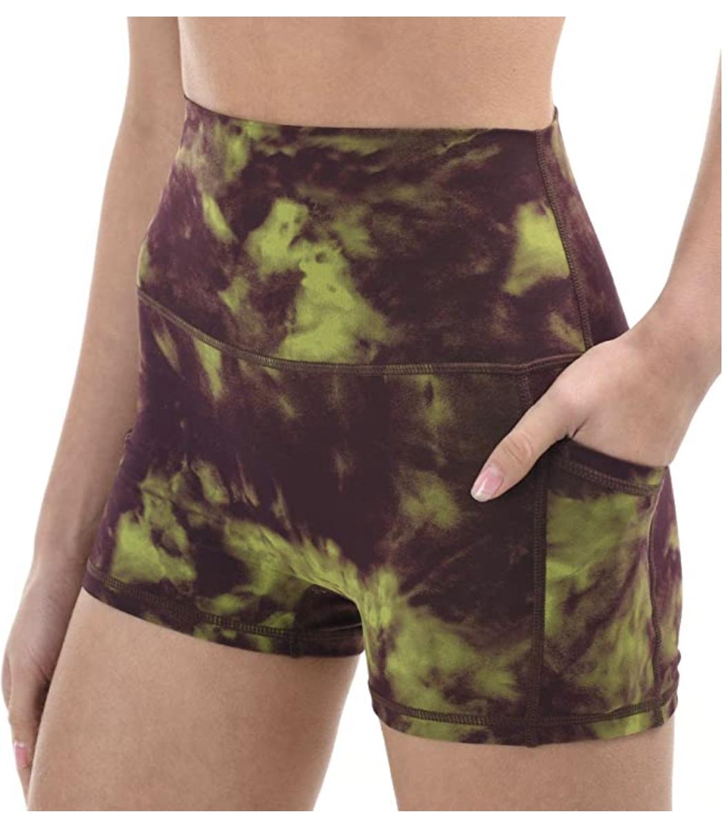 tie-dye running shorts