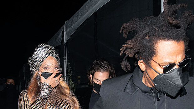 Beyonce Slays In Turban & Sequined Dress After Grammys With Jay Z  Hollywood Life