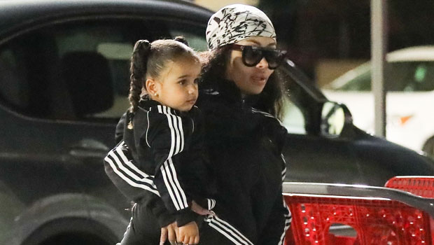 Blac Chyna & 'Best Friend' Dream Kardashian, 4, Rock Matching Pink Jumpsuits In $400K Rolls Royce.jpg