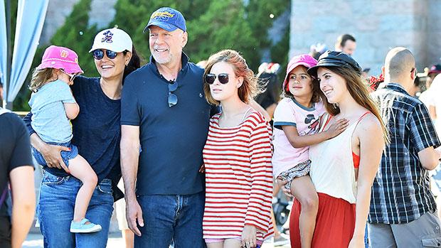 Bruce Willis & his family