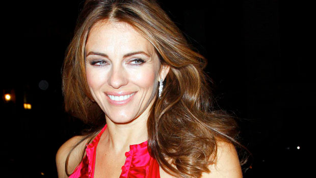 Elizabeth Hurley, 55, Unwinds At Home In Plunging Red Suit With Nothing Underneath — Sexy New Pic.jpg