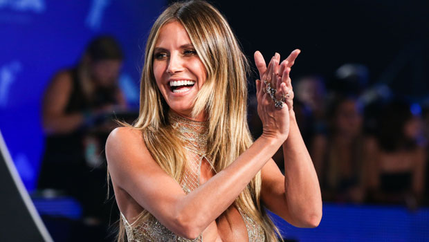 Heidi Klum Wears A Pink Jacket With Nothing Underneath As She Promotes Brother-In-Law's Book