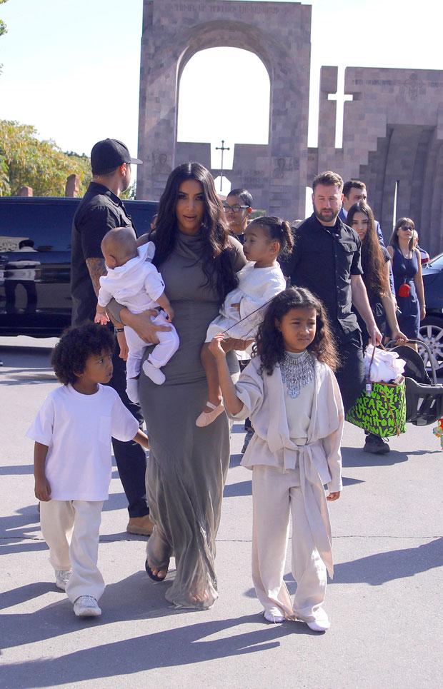Kim Kardashian, Chicago West, Psalm West