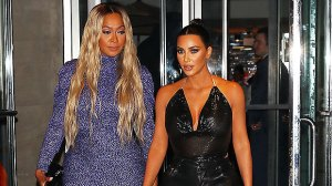 Kim Kardashian Leans On La La Anthony After Divorce: See Their Sexy New Pics In Pastel & Tie-Dye Dresses