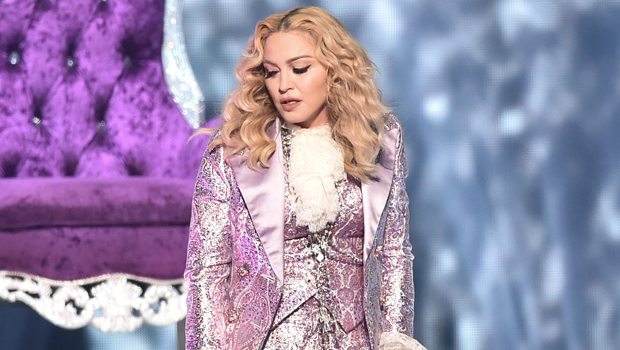 Madonna, 62, Is So Sexy In Plunging Black Bustier & Almost K Prada Jacket – See Pics