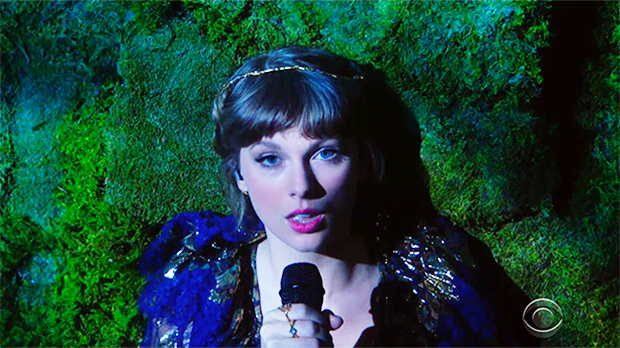 Taylor Swift Takes Fans Into An Enchanted Forest For Epic Performance Of 'Cardigan' & 'Willow' At 2021 Grammys