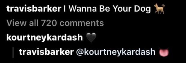Travis Barker Kourtney Kardashian Flirty Instagram Comments
