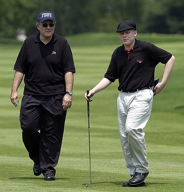 Rudy and Andrew Giuliani