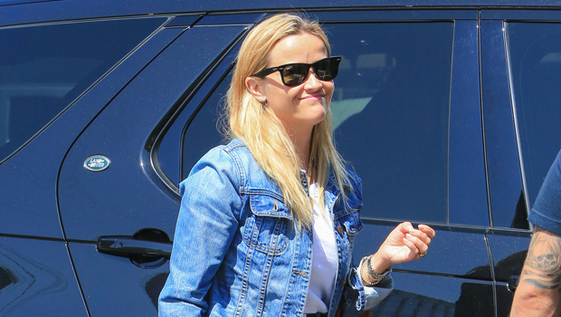 Reese Witherspoon wearing wedge sandals