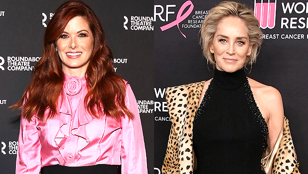 Debra Messing Jokes She 'Went To Bed' With Sharon Stone As She Covers Herself With Copy Of Her Memoir