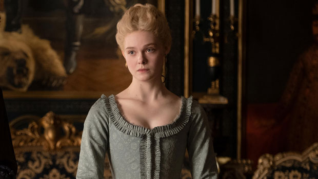 Elle Fanning Stuns In Pearls & Corset In Modern Day Catherine The Great Gown – See Gorgeous Pics.jpg