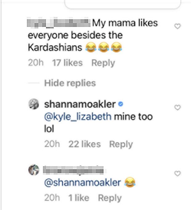 Shanna Moakler Instagram Comment