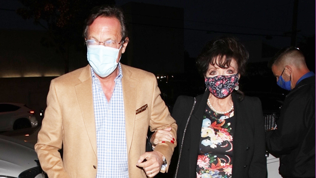 Joan Collins, 87, Stuns In Floral Dress Going To Dinner With Husband Percy Gibson On Date Night.jpg