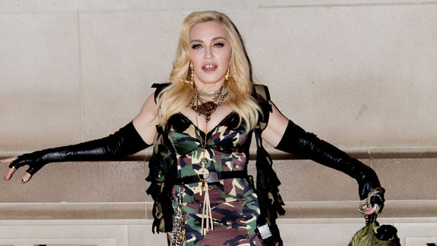 Madonna, 62, Is Nearly Unrecognizable With Platinum Blonde Hair & A Green Robe In New Selfies.jpg