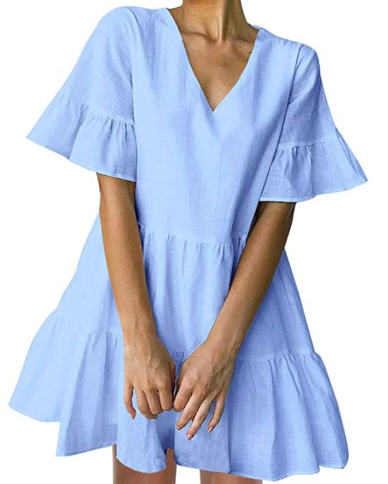 Blue Ruffled Dress
