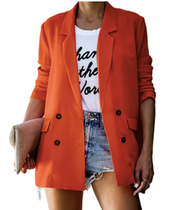 Orange oversized blazer