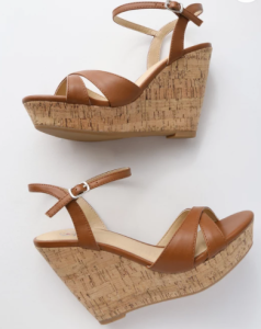 Lulu's tan wedges