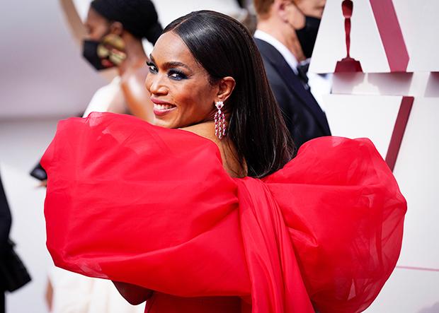 , Angela Bassett Wows In Red In Dramatic Oscars Dress,