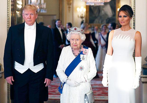 Donald Trump, Melania Trump, Queen Elizabeth