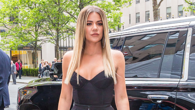 Khloe Kardashian Channels 'Avatar' In Skintight Blue Bodysuit For Night Out With Sisters — Pics