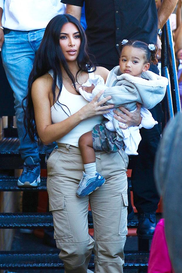 Kim Kardashian and Chicago West