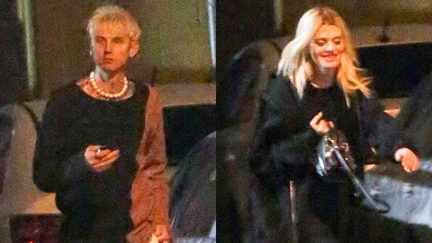 Machine Gun Kelly Photographed Arriving & Leaving LA Club With A Mystery Blonde