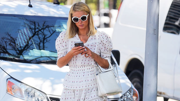 Look Stylish This Spring With This Flowy Ruffle Dress Similar To The One Worn By Paris Hilton.jpg