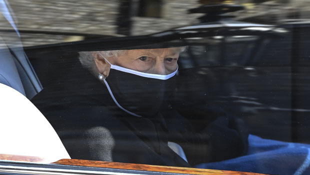 The Queen Wipes Away Tears As She Arrives At Husband Prince Philip's Funeral — See Photo